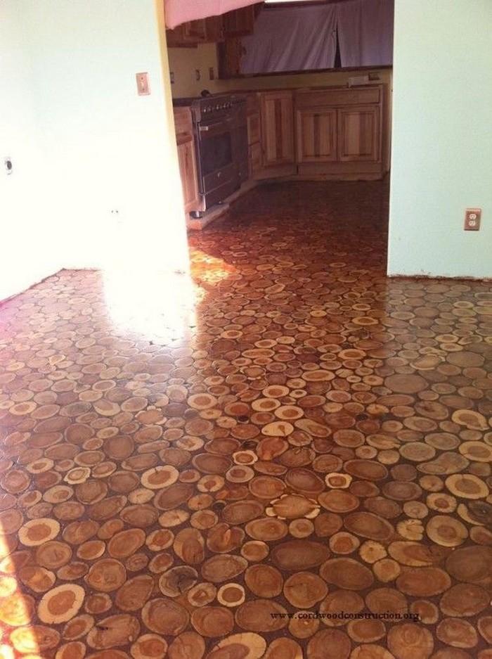 Cordwood Floor
