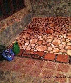 Cordwood Floor
