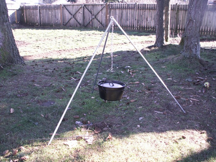 Learn how to make your own campfire tripod