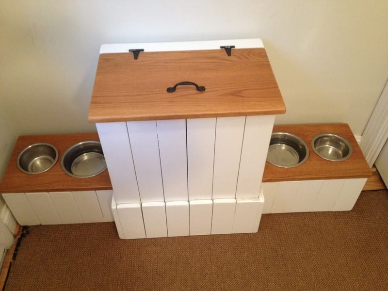 How To Build A Dog Food Station With Storage Your Projects Obn
