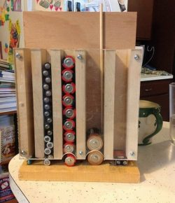 DIY Drop Down Battery Dispenser
