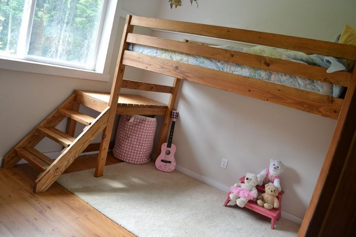 diy loft bed with stair - Bunk Bed With Stairs
