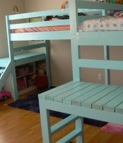 DIY loft bed with stair