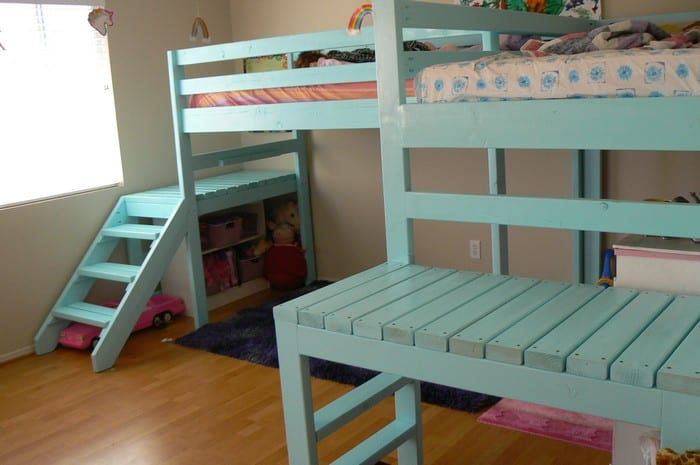 Build your kids a loft bed with stairs! | Your Projects@OBN