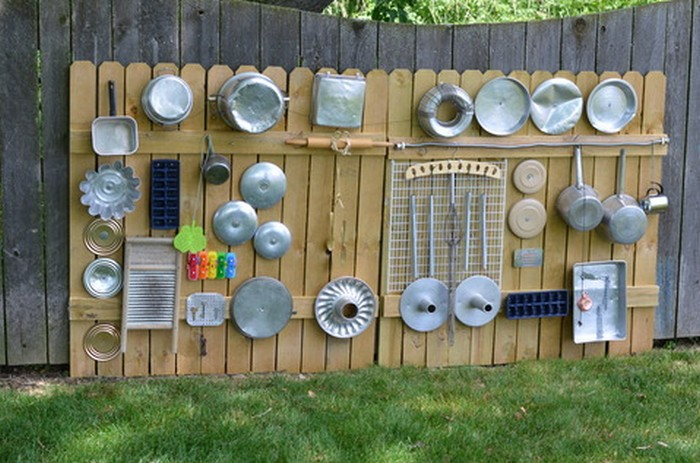 Build your kids an outdoor music wall from recycled - Exterior noise barrier materials ...