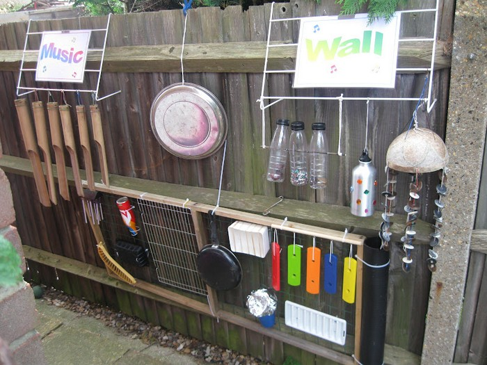 Build Your Kids An Outdoor Music Wall From Recycled Materials Your Projects Obn