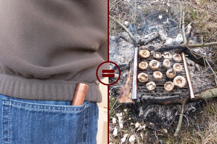 Learn how to make a pocket grill for your outdoor adventures!