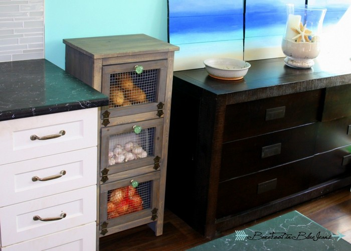 DIY Vegetable Bin Cupboard