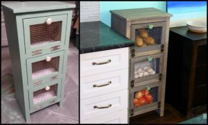 Build your own vegetable bin cupboard
