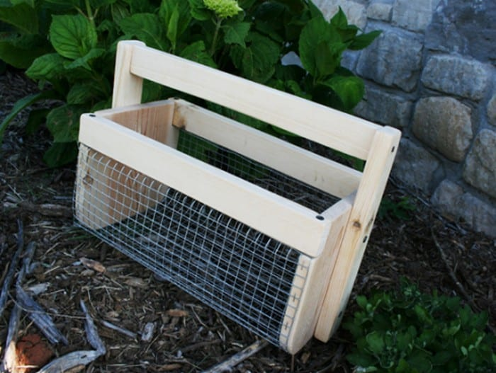 Make harvesting convenient by making a vegetable hod