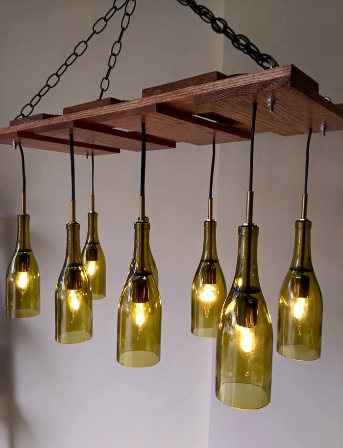 learn how to build a wine bottle chandelier your. Black Bedroom Furniture Sets. Home Design Ideas