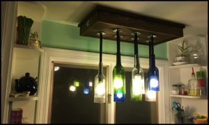 Learn how to build a wine bottle chandelier
