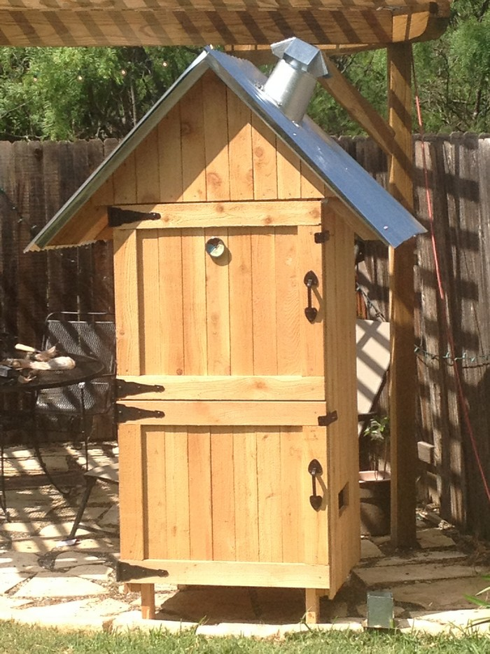 Build your own timber smoker your projects obn for Wooden homes to build