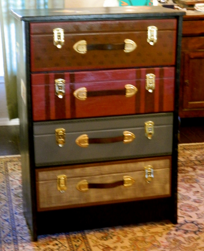 Luggage Style Furniture: Revamp Your Old Dresser With This Faux Suitcase Painted