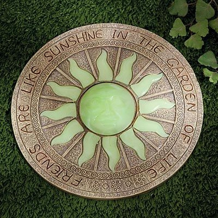 Enhance your yard by making glow in the dark stepping for Solar powered glow stepping stones
