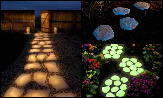 Enhance your yard by making glow in the dark stepping stones!