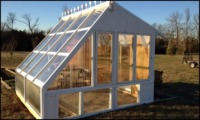 Build your own beautiful greenhouse using old windows!