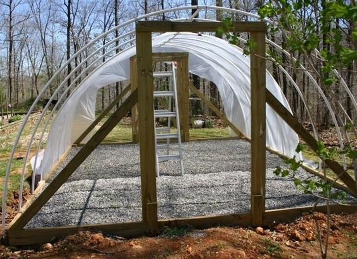 How to build a retractable hoop house greenhouse your for Diy hoop greenhouse