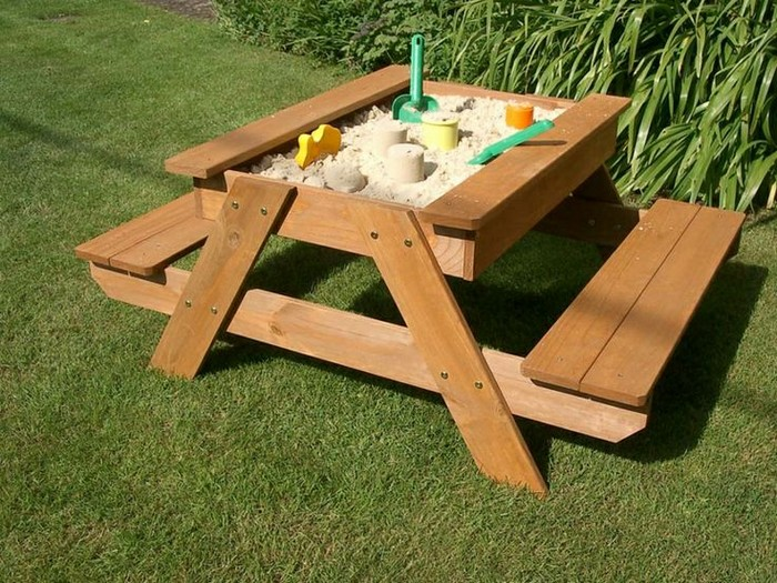 Build Your Kids A Picnic Table With Sandbox Your Projects Obn