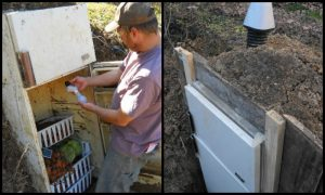 Build your own root cellar using an old refrigerator