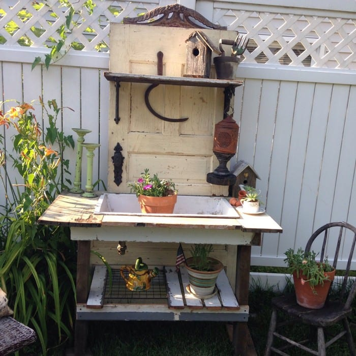 Build a potting bench out of an old wood door | Your Projects@OBN