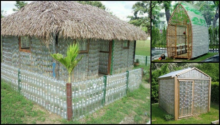 Build your own greenhouse out of recycled plastic bottles for Best material to build a house