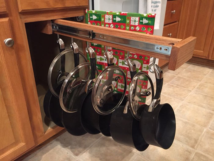 Make Your Own Sliding Pots And Pans Rack Your Projects Obn