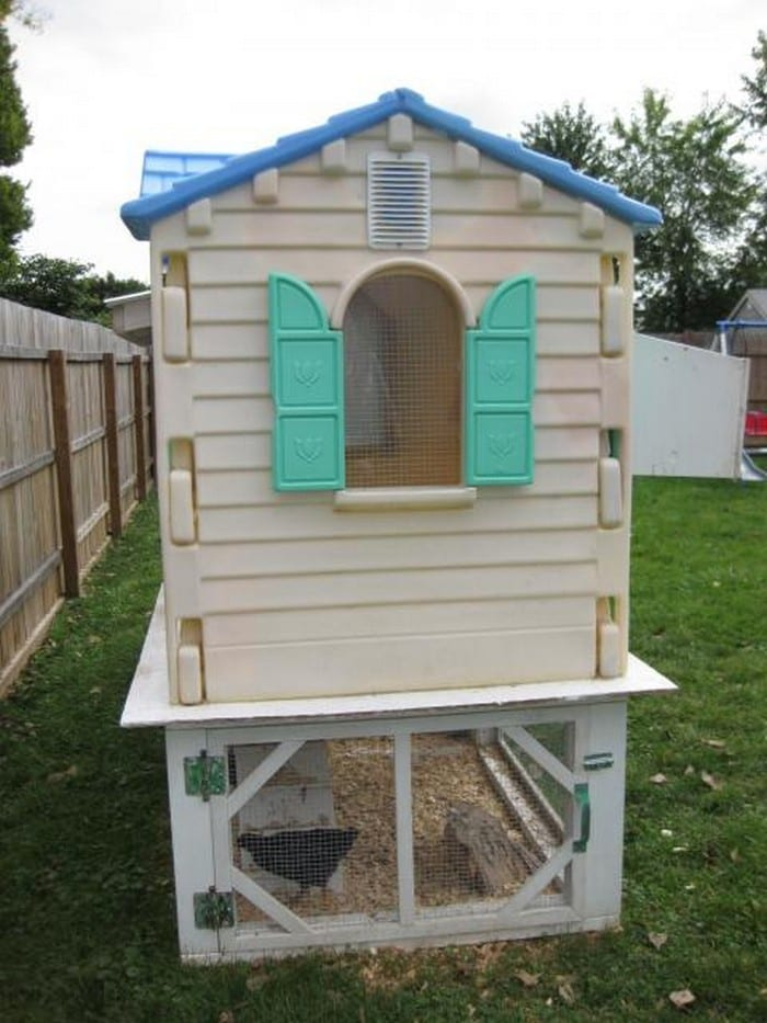 old playhouse turned chicken coop your projects obn