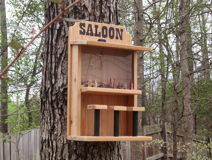 Feed The Birds In Your Yard By Making A Saloon Bird Feeder
