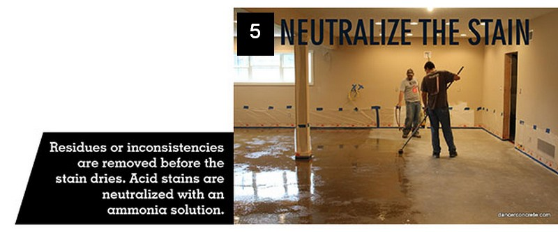 Stained Concrete Floor - neutralize stain