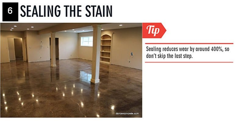 Stained Concrete Floor - seal