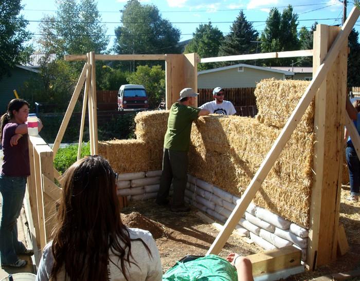 Straw bale greenhouse