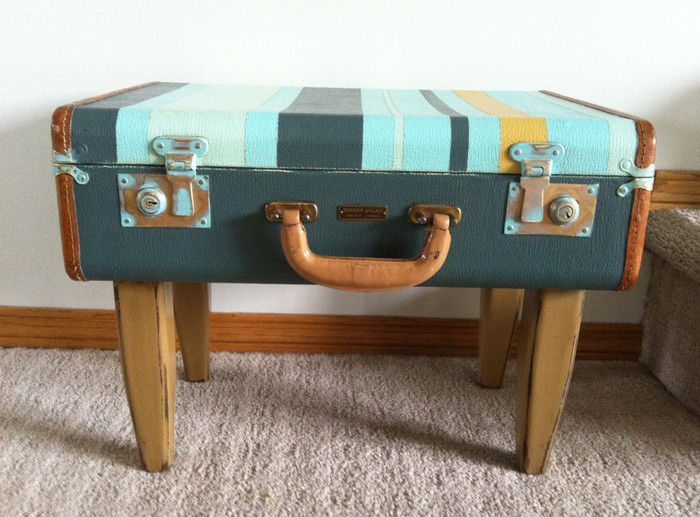 Ordinaire Upcycled Vintage Suitcase Side Table