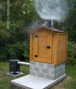 DIY wood smoker