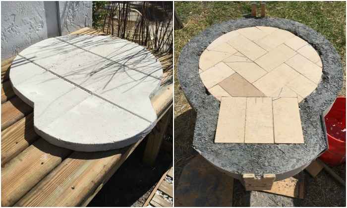 Wood-fired pizza oven built using exercise ball