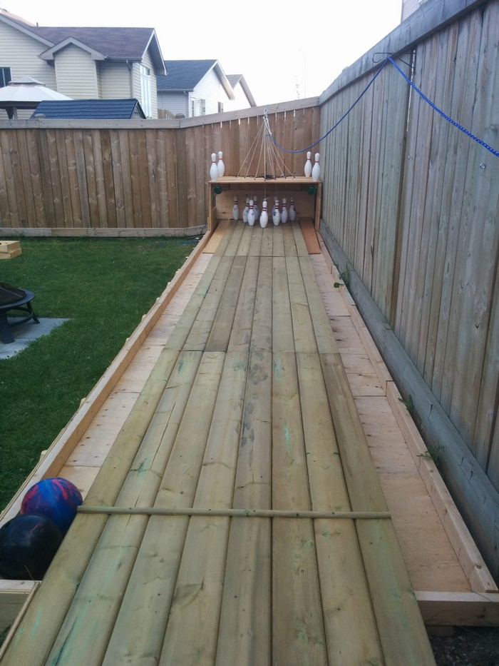 Build Your Own Backyard Bowling Alley Diy Bowling Alley