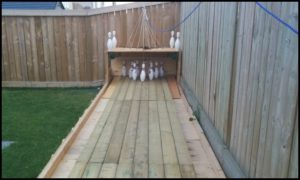 Build your own backyard bowling alley!