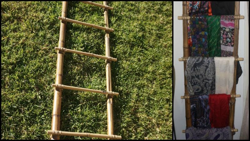 Bamboo Clothes Ladder