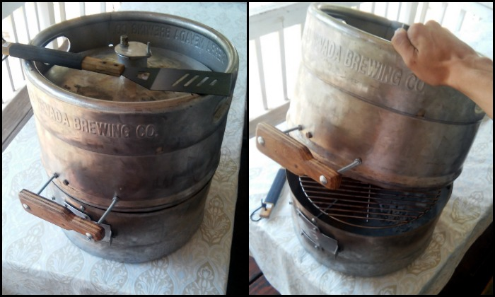 Make your own beer keg grill