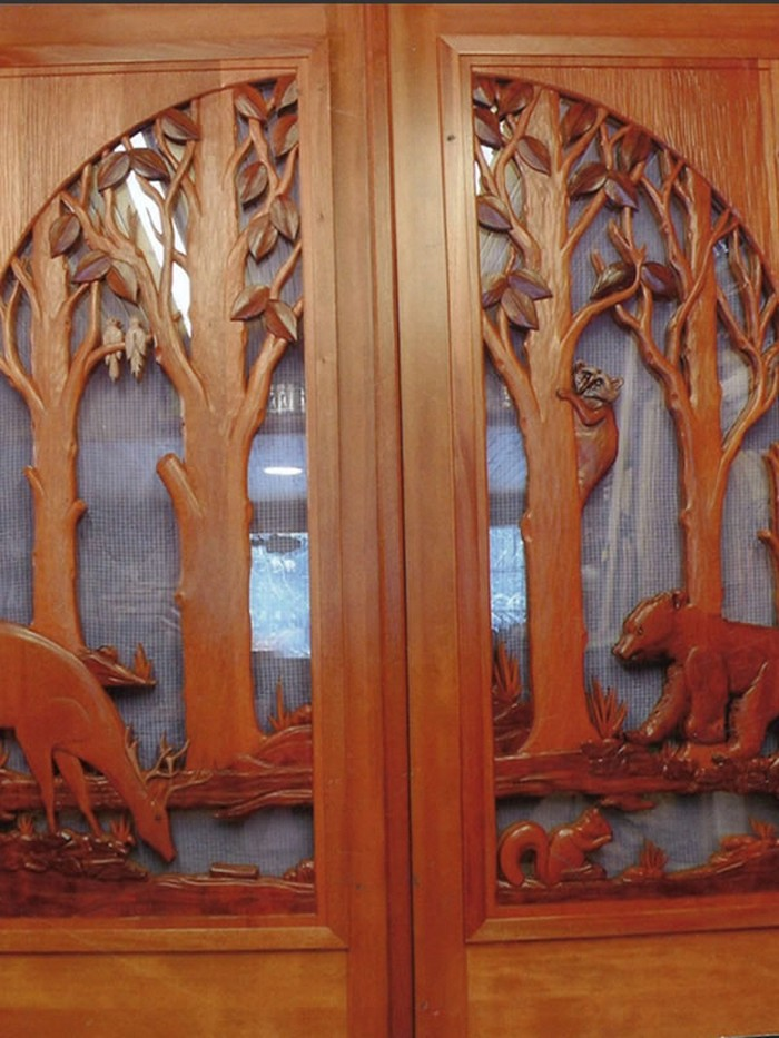 Custom carved wooden door designs home decoration for Wood carving doors hd images