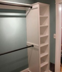 Built-in Shelf with Rods