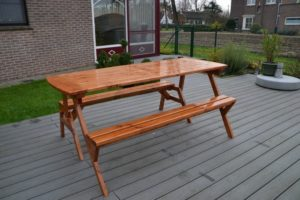 Build a picnic table and bench in one