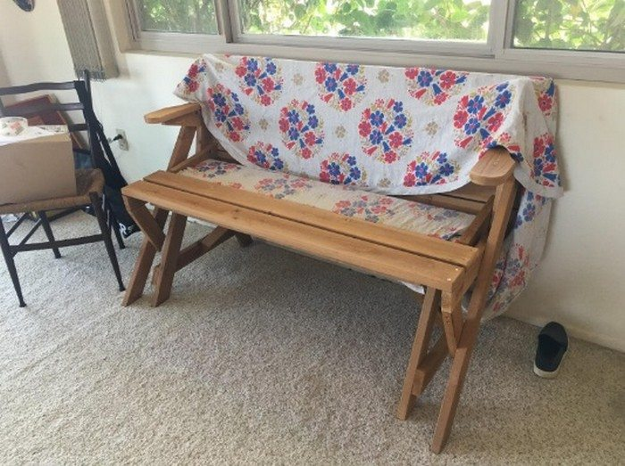 Build a picnic table and bench in one diy picnic table Convertible bench