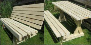 How to build a 2-in-1 picnic table and bench
