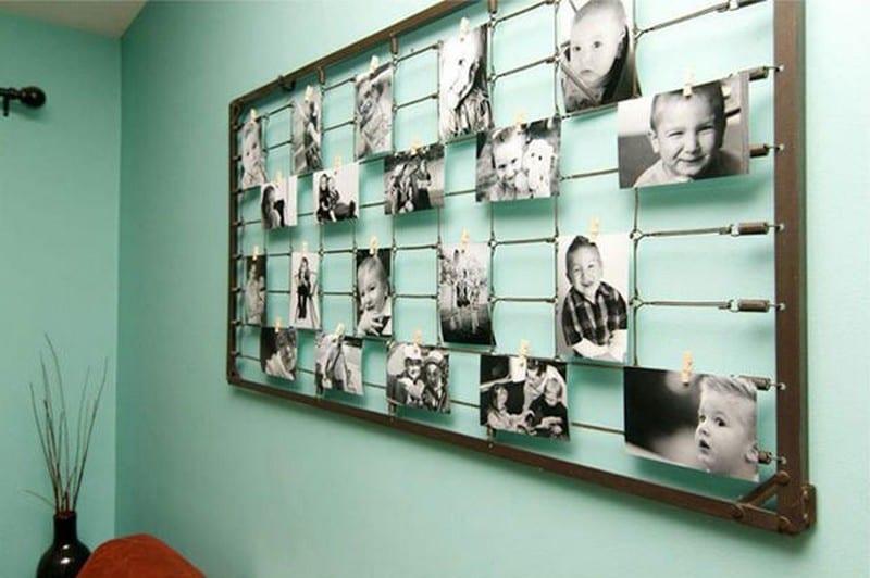 Как оформить стену из фотографий своими руками