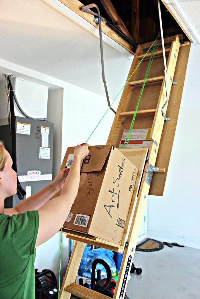 DIY Attic Storage Lift