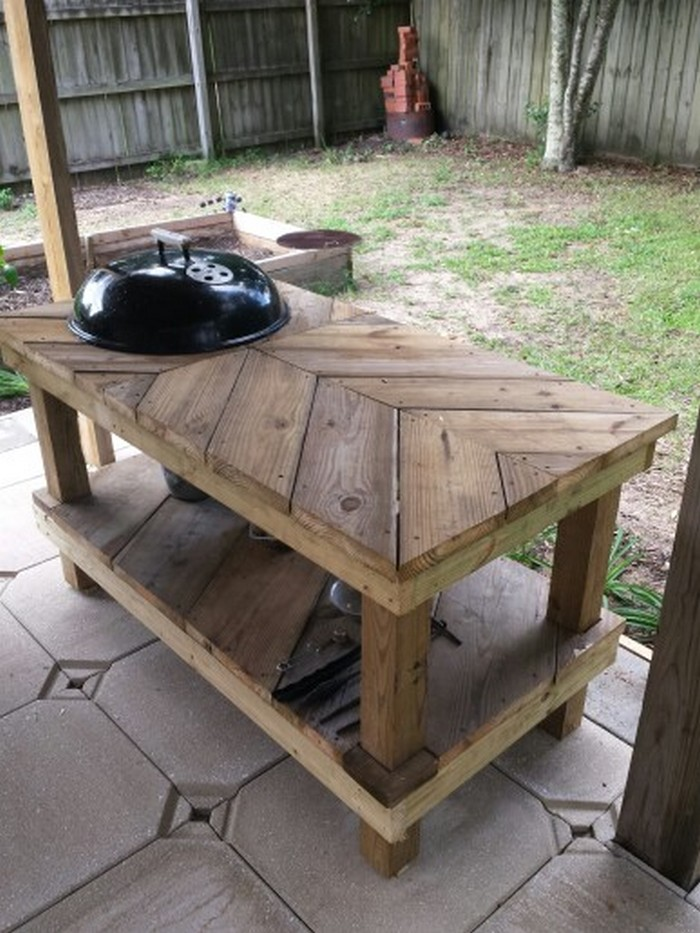 Superieur DIY Barbecue Grill Table