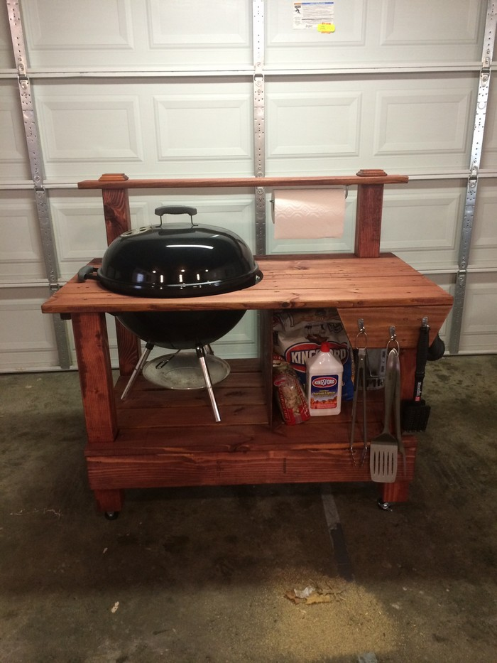 Build Your Own Barbecue Grill Table Diy Barbecue Grill