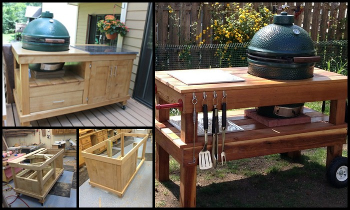 DIY Barbecue Grill Table