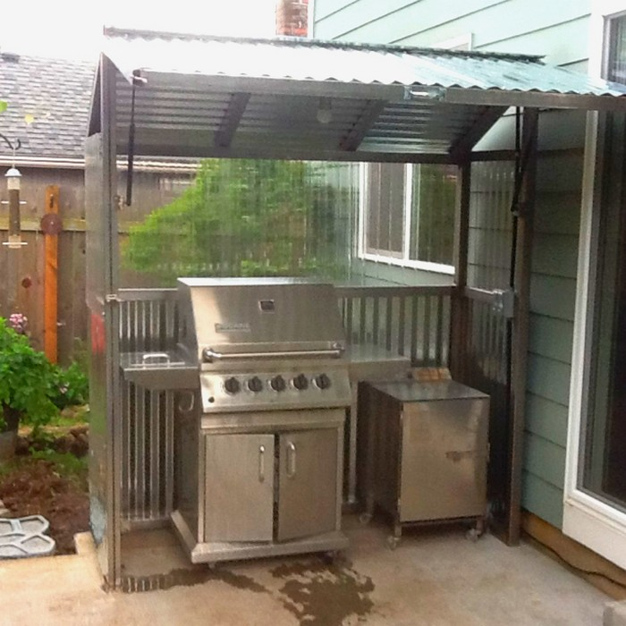build your own backyard grill gazebo diy grill gazebo. Black Bedroom Furniture Sets. Home Design Ideas